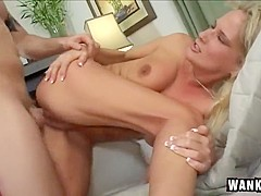 Blonde Sexpot Rides Her Stepson's Big Cock